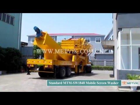 MTM SW1848 Shipment 3 Mobile Screen Washer of Shanghai Metvik® Company