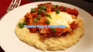 poached eggs in salsa recipe