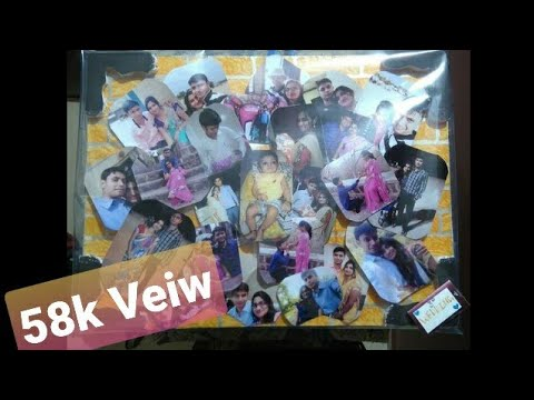How To Make Lovely Photo Collage Frame In Few Step L With Thermocol