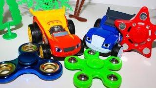 Вспыш и чудо машинки новые серии СПИННЕР ТРЮКИ Развивающие мультики про машинки Blaze toys videos