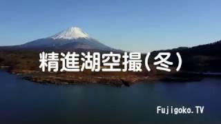 DJI Drone Fly go go - Lake Shojiko in Mt. Fuji. (富士山と精進湖空撮)