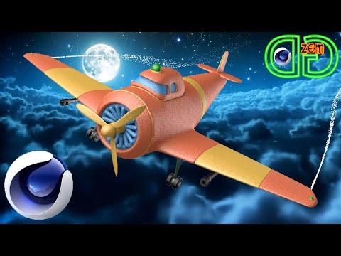 Как создать 3D модель самолета в Cinema 4D.Уроки на русском Для Начинающих