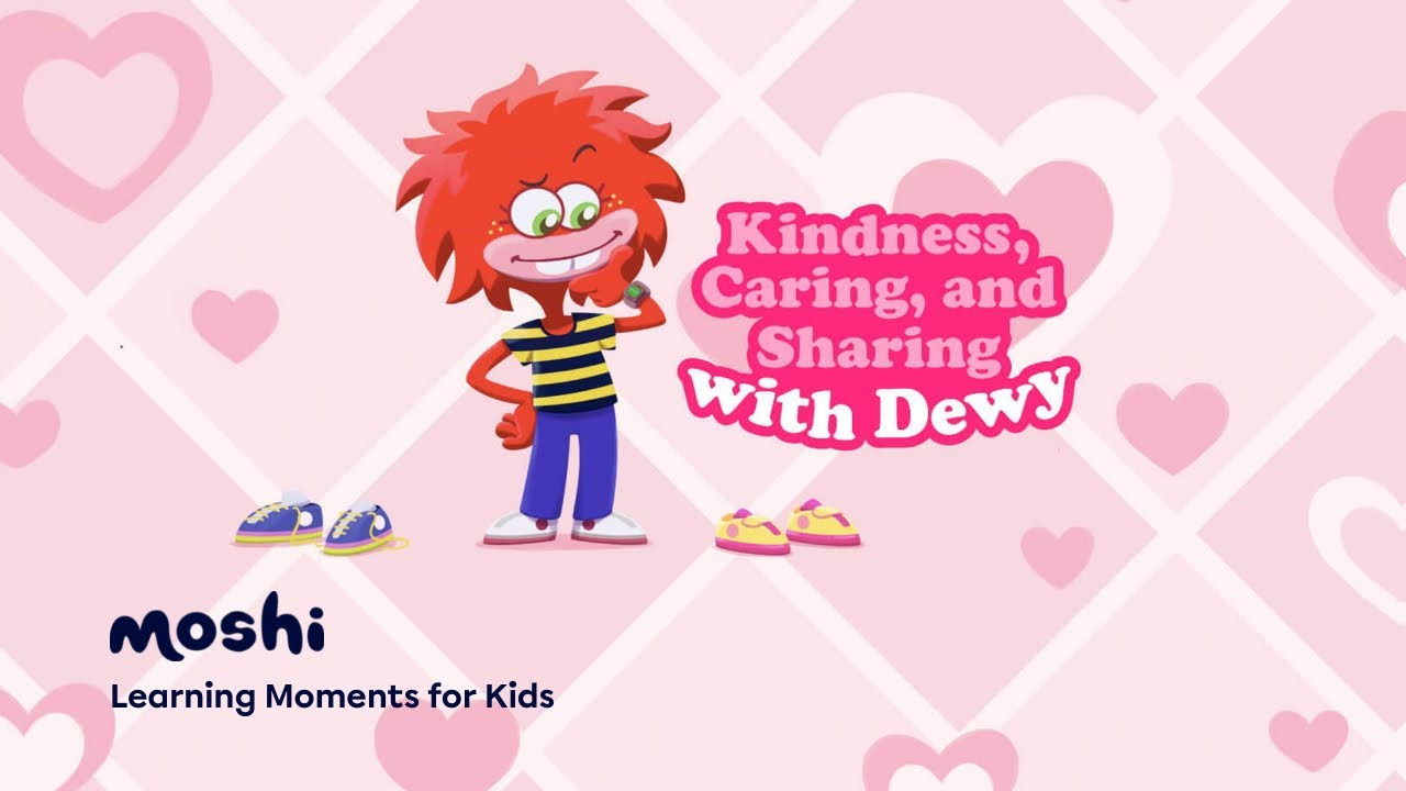 Kindness Caring and Sharing with Dewy | 5-Minute Kindness Meditation for Kids | Moshi