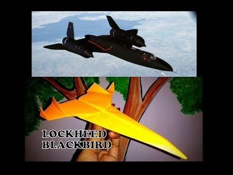 How to make paper model of Blackbird SR-71 plane?