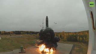 Учебно-боевой пуск ракеты «Тополь-М» на космодроме Плесецк — видео