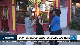 Tenants speak out about landlord loophole