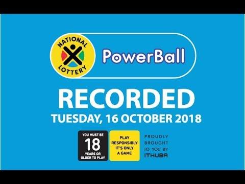 Powerball Results - 16 October 2018