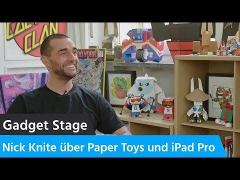 Interview: Nick Knite über Paper Toys, das iPad Pro und kreative Workflows (english subtitles)