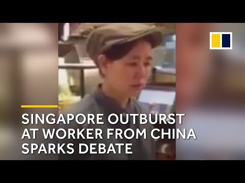 Singaporean scolds worker from China for not speaking English