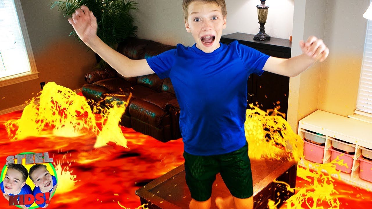 Escape the Babysitter Floor is Lava! Hello Neighbor In Real Life! | Drone Home Game