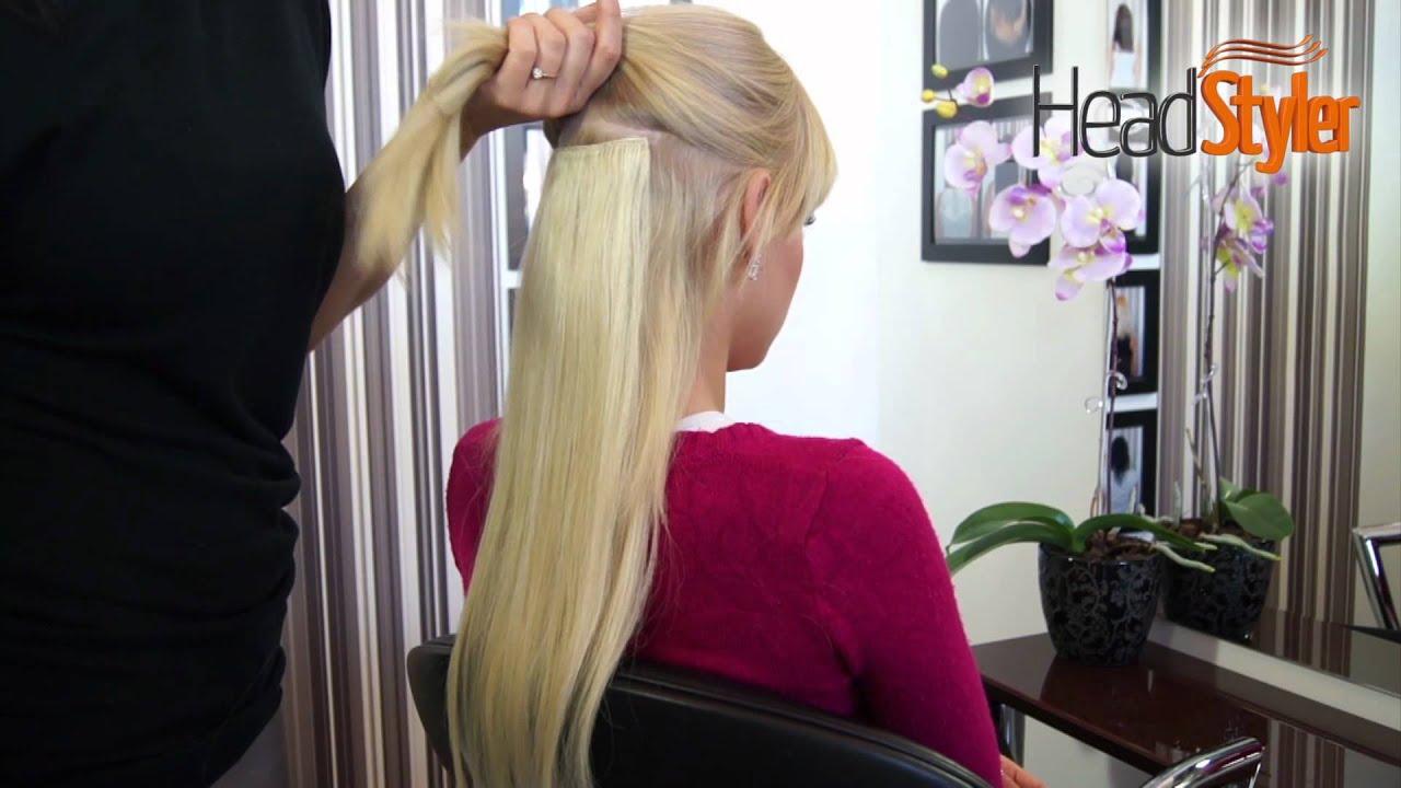 Przedłużanie Włosów Metodą Clip In Dopinki Headstyler 50cm