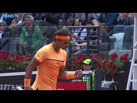 Nadal Hits Back To Back Hot Shot Rome 2016