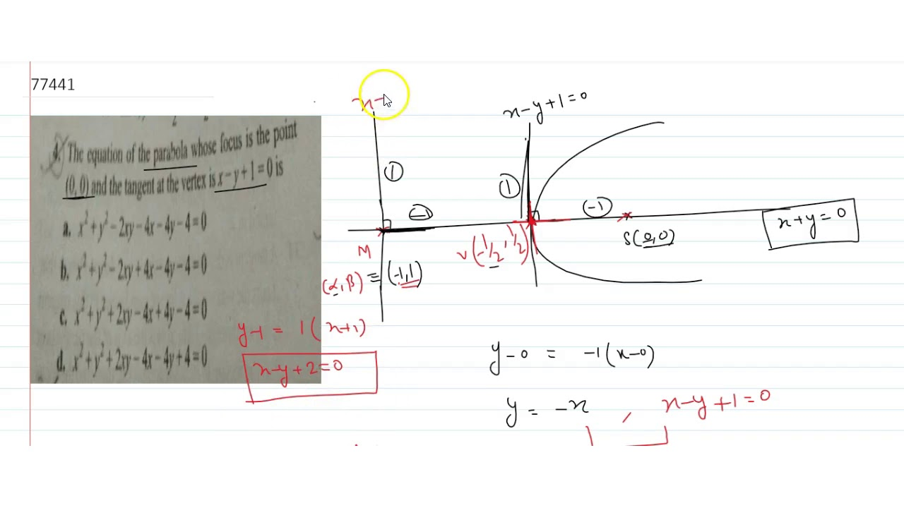 29-40 Find an equation for the parabola that has