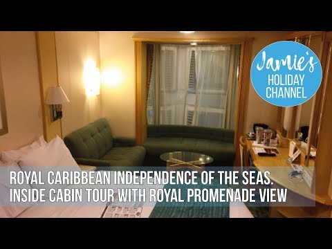 Royal Caribbean - Independence of the Seas - Cabin Tour (7625 Inside with Promenade view)