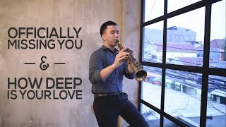 Video Officially Missing You & How Deep Is Your Love - Saxophone Cover by Desmond Amos download MP3, 3GP, MP4, WEBM, AVI, FLV November 2018