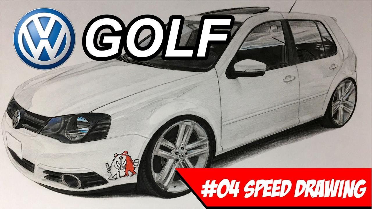 vw golf aro 20 amarok speed drawing youtube