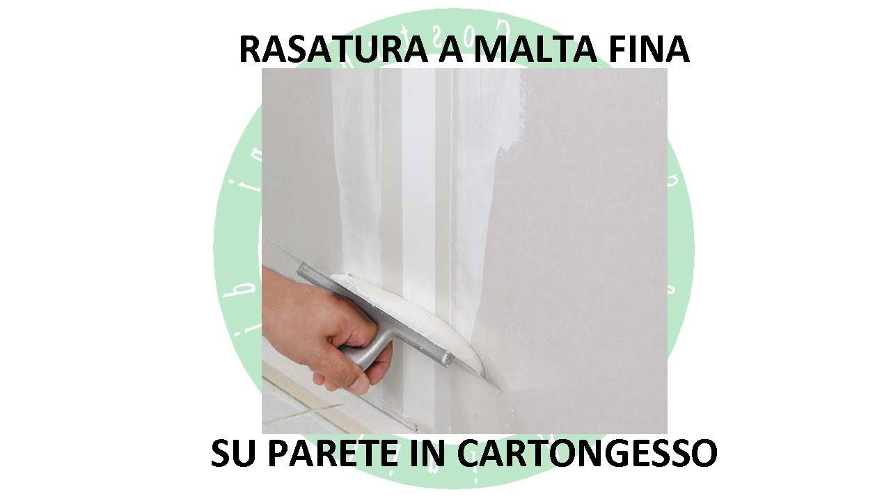 Pittura Granulosa Per Cartongesso rasatura a malta fina su parete in cartongesso
