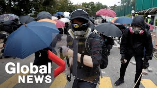 Hong Kong protests: Students fortify universities to gear up for new battle amid escalating violence Hong Kong pro-democracy protesters paralyzed parts of the city for the fourth day in a row on Thursday, forcing schools to close and blocking highways wit, From YouTubeVideos