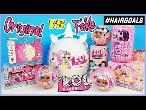 LOL surprise HAIR GOALS *LOL UNICORN * Glam Glitter * LOL surprise Original vs Fake