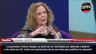 La periodista Cristina Wargon cantó las 40: