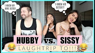 HUBBY VS. SISSY | WHO KNOWS ME BETTER CHALLENGE + CHILDHOOD STORYTIME ❤️ | rhaze