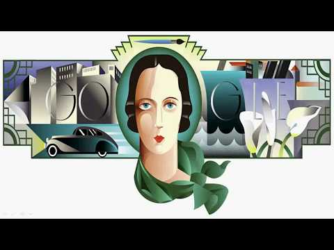Tamara de Lempicka's 120th Birthday - Google Doodle
