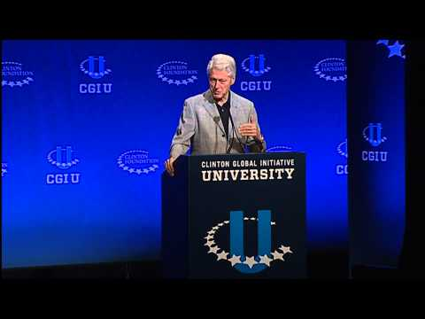 2014 Up To Us: Clinton Global Initiative University with Michael Peterson and Bill Clinton