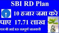 SBI RD PLAN IN HINDI || SBI RD INTEREST RATE 2019 || SBI RD CALCULATOR