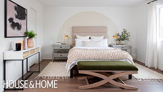 Bedroom Makeover With Easy DIY Painted Arch