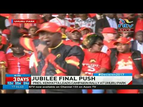 President Uhuru Kenyatta's full speech at Uhuru Park