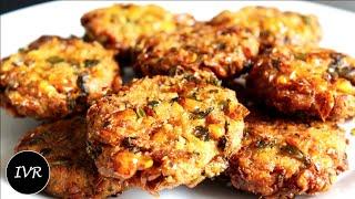 """""""Corn Cutlets Recipe""""   Corn Patties   Corn Tikki Patties   Fried Patties   Sweet Corn Cutlets"""