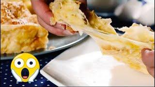 Ачма из лаваша по грузински - слоеный пирог из лаваша с сыром