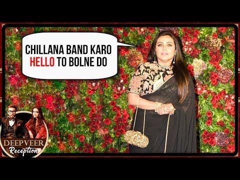 Rani Mukerji Graceful Look In A Black Saree At Deepika Ranveer Mumbai Reception 2018