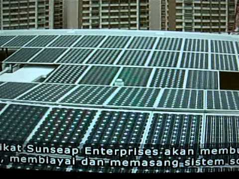 Sunseap Leasing 1st Solar Leasing Project with HDB in Punggol - Berita News in Malay