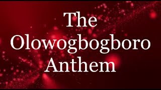 The Olowogbogboro Anthem - Nathaniel Bassey ft Wale Adenuga (L…