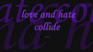 when love and hate collide with lyrics mp3