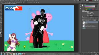 Как сделать MLG аватарку/картинку в Photoshop CC