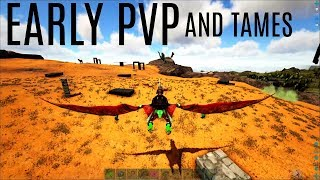 AERIAL PVP and Early Game Tames - Ragnarok 5 Man PVP (E5) - ARK Survival