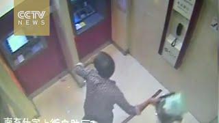 بالفيديو.. سكران يحطم ماكينة صرف آلي بعدما ابتلعت بطاقته