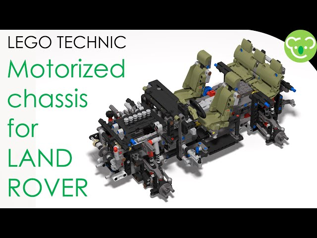 [MOD] Motorized chassis for LEGO Technic 42110 Land Rover Defender - powered by Buwizz