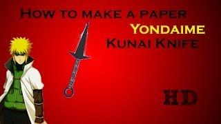 How To Make A Paper Yondaime Kunai (Tutorial)