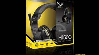 unboxing headset corsair gaming h1500