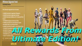 Fortnite - All Rewards From Ultimate Edition Founder's Pack Showcase Part 33