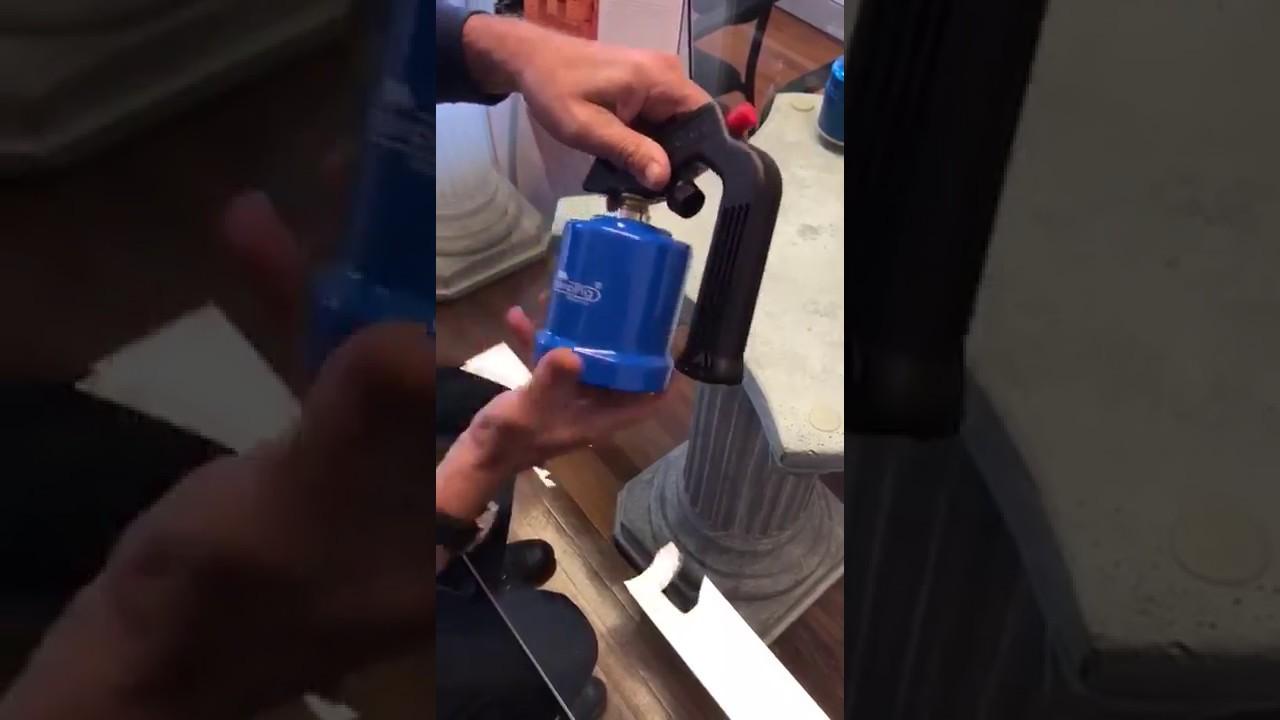 How to change a 190g butane gas cartridge