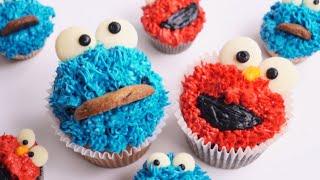 엘모 쿠키몬스터 컵케이크 만들기 Elmo Cookie …