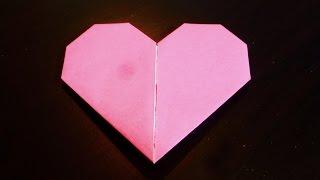 Как сделать форму сердца. Оригами. Искусство складной бумаги.