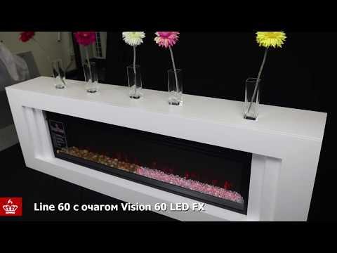 Электрический Очаг Royal Flame Vision 60 LOG  LED. Видео 1