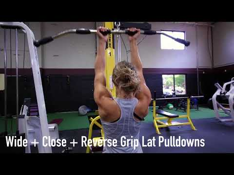Wide + Close + Reverse Grip Lat Pulldowns
