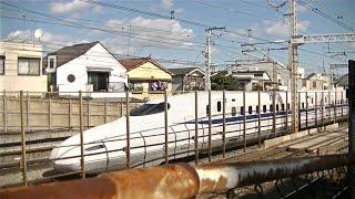 JR東海道新幹線N700系1000番台(N700A G編成)下り列車 雪谷高校付近通過