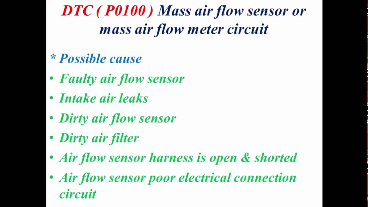 p0100 mass air flow sensor or mass air flow meter circuit youtube rh youtube com